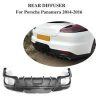 Labio Difusor trasero Protector de Parachoques De Fibra de Carbono para Porsche Panamera Hatchback 4 Puertas 2014-2016
