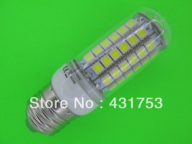 40 PCS NEW  12W E27 5050 69LED Corn Bulb Light LED Lamp 200V-240V 360 degree white / warm white ( high brightness )