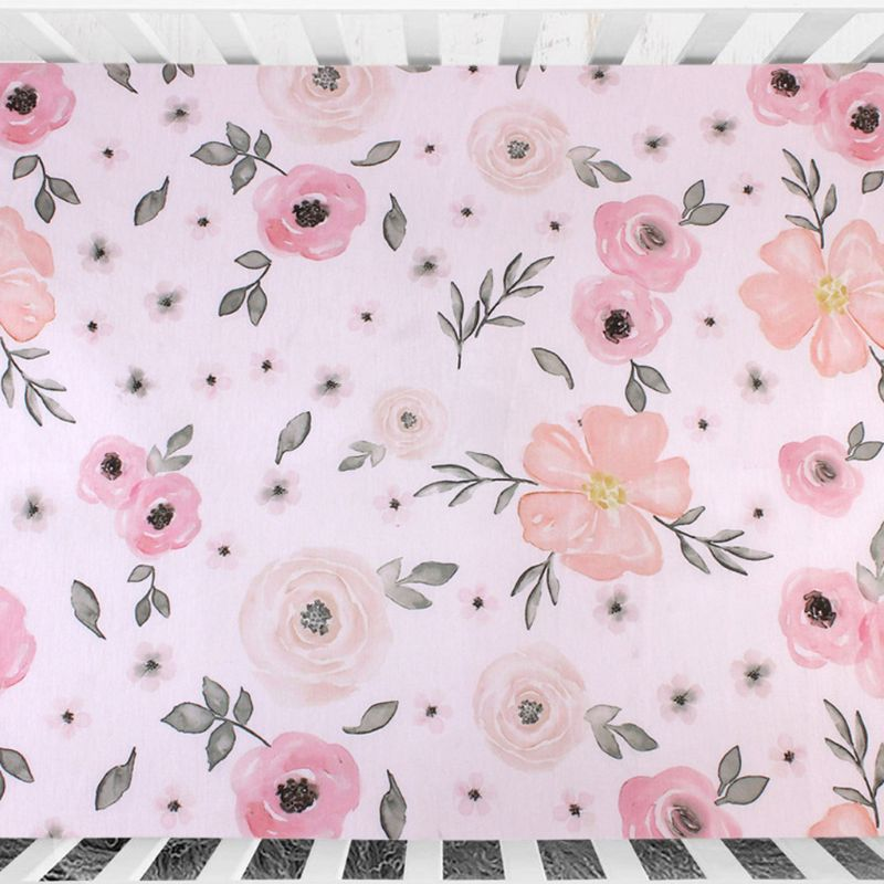 Crib Fitted Sheet Soft Breathable Baby Bed Mattress Cover Printing Newborn Bedding For Cot Size 130*70cm