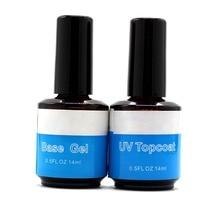 2pcs/Lot 14ml Top Coat Base UV Gel Acrylic Nail Art Polish Gloss Seal Glaze Faster Primer