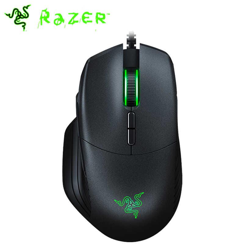 Razer Basilisk przewodowa mysz do gier 6400 dpi/16000 DPI RGB 5G czujnik optyczny wymienny DPI odporność na przewijanie sprzęgła 8 przycisków czarny