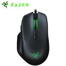 Razer Basilisk ratón para juegos por cable, 6400dpi/16000DPI RGB 5G, Sensor óptico, resistencia de desplazamiento de embrague DPI extraíble, 8 botones, negro