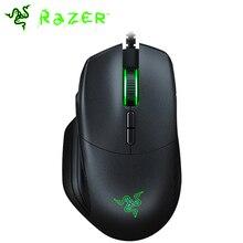 Razer basilisk wired gaming mouse 6400dpi/16000dpi rgb 5g sensor óptico removível dpi embreagem rolagem resistência 8 botões preto