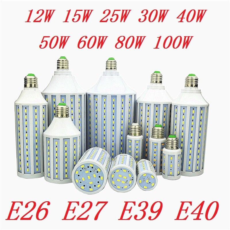 E26 E27 E39 E40 12W 15W 25W 30W 40W 50W 60W 80W 100W LED Lamp Lampada Corn Bulbs Pendant Lighting Chandelier Ceiling Spot Light