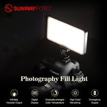 SUNWAYFOTOT FL-120 светодиодный светильник для видеосъемки светильник ing On Olympus Pentax DV камера Горячий башмак с регулируемой яркостью светодиодный для DSLR youtobe Фотостудия