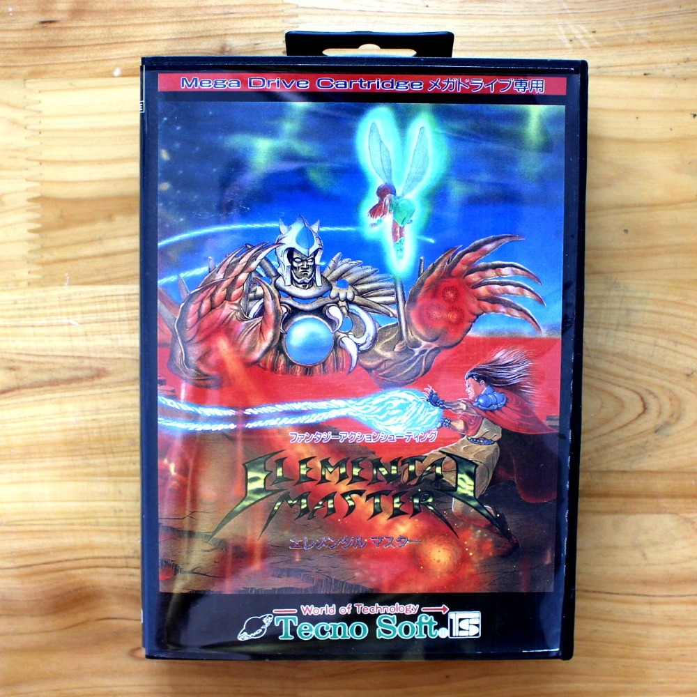 Elemental Master 16 Bit MD Game Card with Retail Box for Sega MegaDrive & Genesis Video Game console system mickey mouse castle of illusion