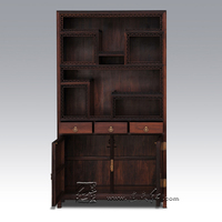 Redwood Furniture Display Shelf Cabinet Chinese Antique Curio Rosewood Whatnot Living Room Office Sark Bookcase Stand