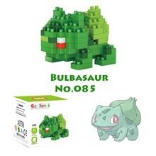 Nanoblock pikachu anime animal action figures micro building blocks miniature bricks diy juguetes 3d toys hobbies for kids.