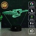 Star Wars Lamp Star Trek Spacecraft 3D Lamp LED Novelty Night Lights USB Light Glowing Children's Gift HUI YUAN Brand