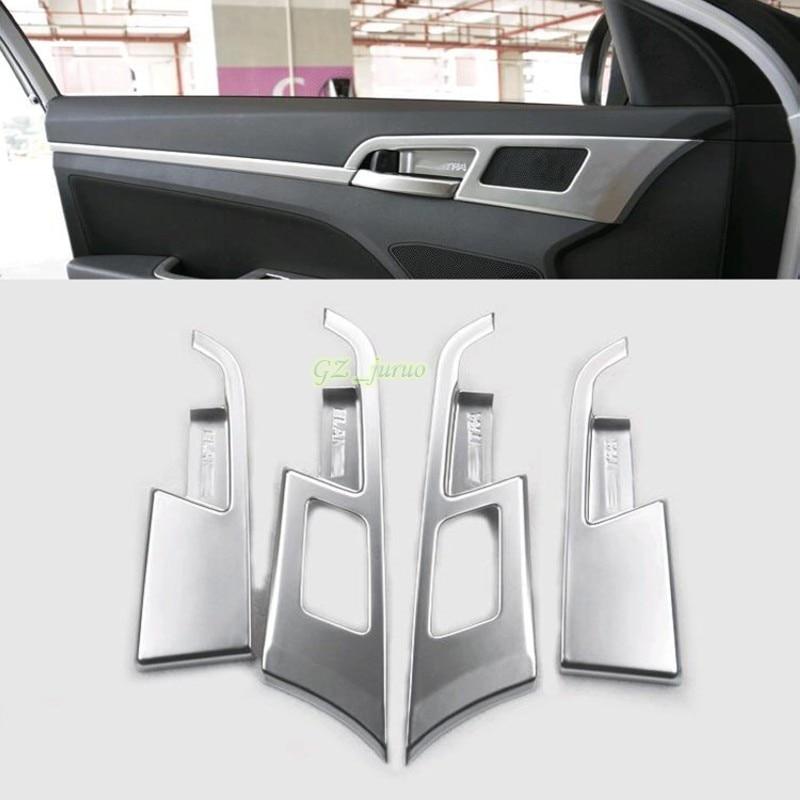 4pcs ABS Interior Inner Door Handle Bowl for Hyundai Elantra Avante 2016 2017 Car Styling Auto