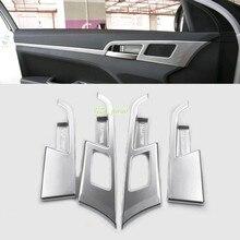 4 unids ABS Interior Interior Puerta Manija Bol para Hyundai Elantra Avante 2016 2017 Car Styling Accesorios para Automóviles