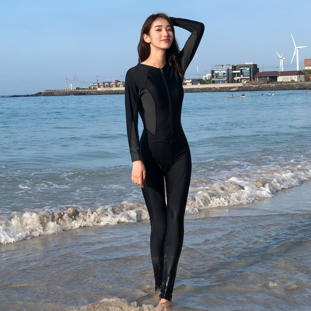 2019 New Style Women's Full Body Scuba Surfing Diving Wetsuits One-piece Jumpsuit Snorkeling Back Zip Wet Suit 81109