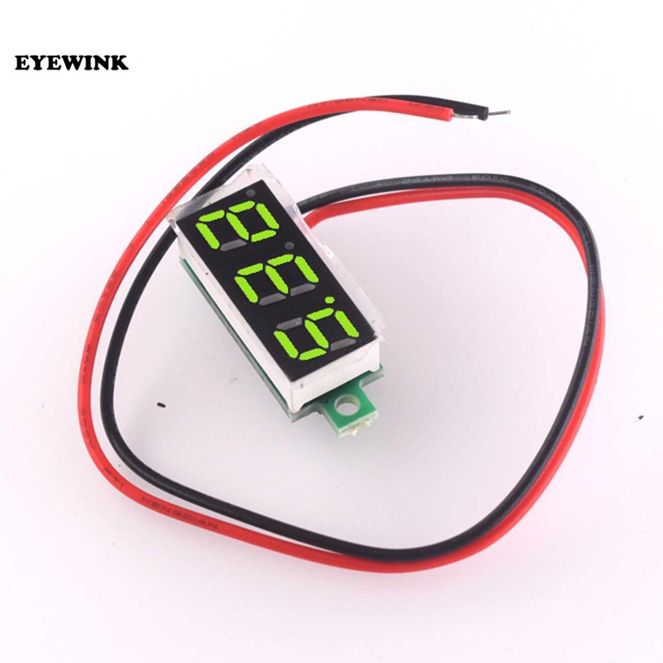 0.28 inch Red//Blue//Green LCD Mini Digital DC Voltmeter Gauge Voltage Detector