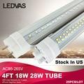 LEDVAS 18W 28W 4Ft T8 led tube1200mm White SMD2835 PF>0.9 Superior quality 110V 220V  Factory outlets Stock in USA  #25pcs/lot