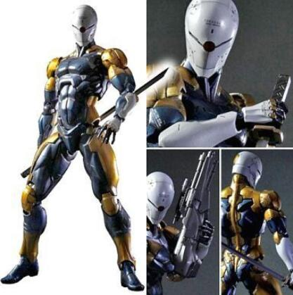 NEW hot 28cm Metal Gear Grey Fox collectors action figure toys Christmas gift doll