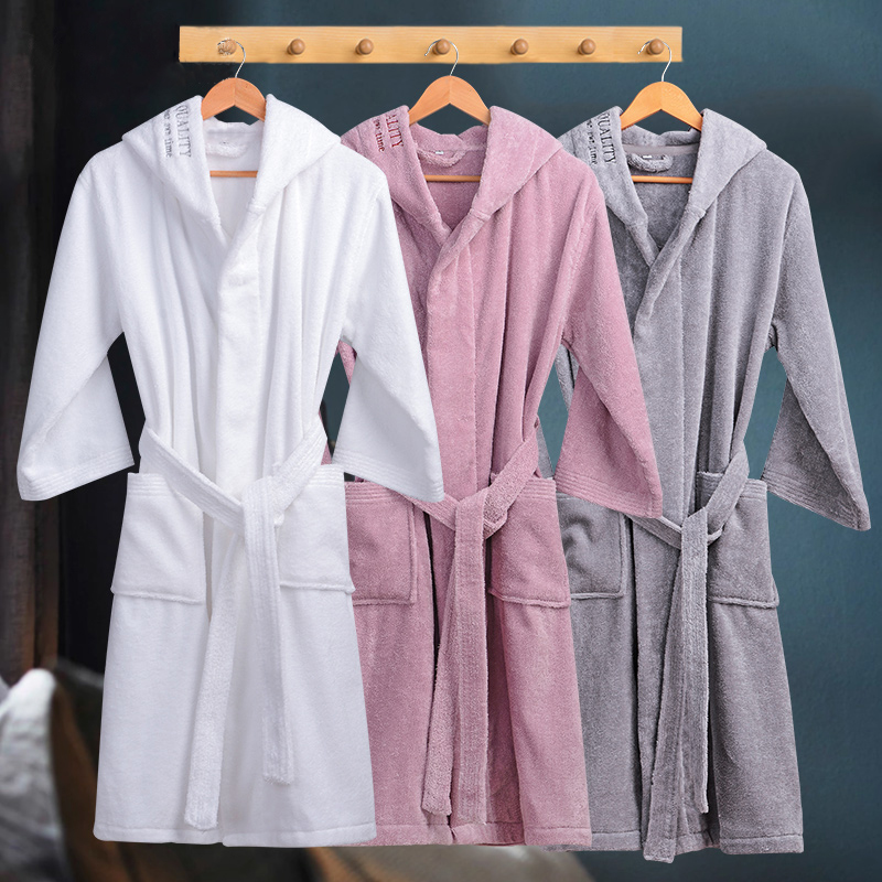 Image 5 - Winter Bathrobe Women Thick Lovers Robe bathrobe women thickening Towel fleece bath robe lounge badjas peignoir femme polaire-in Robes from Underwear & Sleepwears