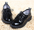 2014 fashion boys shoes PU leather children's martin boots kids classic patent leather dinner party low single shoes