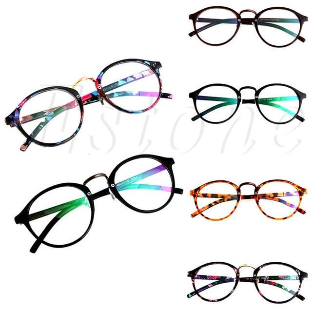 Vintage Klare Linse Brillen Rahmen Unisex Retro Runde Männer Frauen Nerd  Brille 35bf2d16cd