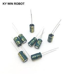 Image 4 - 50 ピース/ロット 50 ボルト 47 uf 6 × 12 ミリメートル高周波低インピーダンスアルミ電解コンデンサ 47 uf 50 ボルト