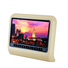 9 inch high-definition LCD screen plug-in type head DVD display built-in game pad and CD-ROM games Car head pillow screen