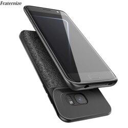 Funda de cargador de batería S7 para Samsung Galaxy S7 Silm Silicone a prueba de golpes power bank funda para Samsung S7 Edge cargador contraportada