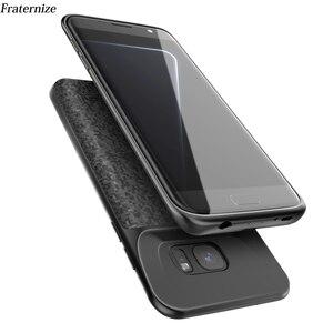 Image 1 - S7 pil şarj cihazı samsung kılıfı Galaxy S7 Silm Silikon darbeye dayanıklı güç bankası samsung kılıfı S7 Kenar Şarj arka kapak