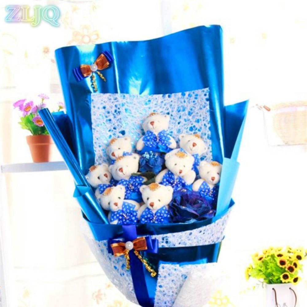 Zljq Cheap 20pcs 59cm60cm Metallic Gold Paper Flowers Packaging