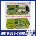 + + + Качество Зеленый Одноплатный TCS CDP PRO 2014R2/2015.1 С Bluetooth OBD2 Сканер Со СВЕТОДИОДНОЙ 3 IN1 автомобиля Диагностический Инструмент