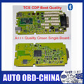 A+++ Quality Green Single Board TCS CDP PRO 2014R2/2015.1 With Bluetooth OBD2 Scanner With LED 3 IN1 Car Diagnostic Tool