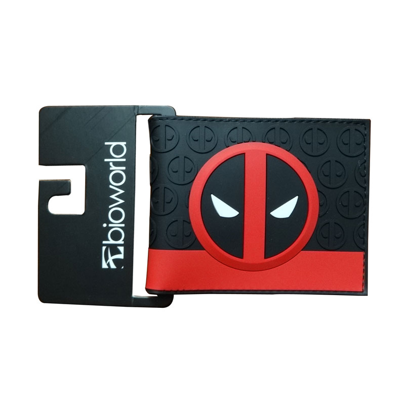2017 portefeuille femme Anime Deadpool Purse carteira Wallets Dollar Price Men Women PVC Short Wallet new cartoon wallet fallout print purse pu leather card money bags carteira dollar price men women lovely short wallets
