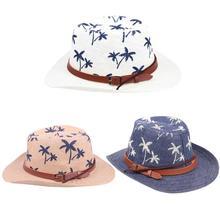Verão Tampão Da Viseira de Palha Ocidental Cowboy Chapéus Moda Unissex  Crianças meninos Meninas Chapéu de dfee658c362
