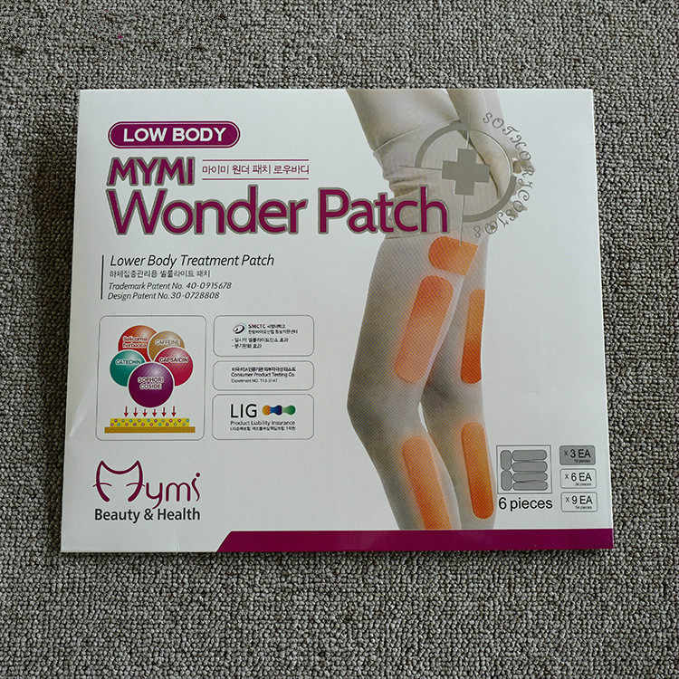 54pcs=3boxes  Mymi Wonder Slim Patch For Legs Arm Slimming Fat Burning Patchs Burn Fat Feet Care Anti Cellulite Face Lift