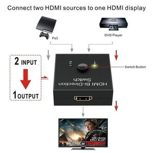 Image 2 - 4K UHD HDMI Splitter HDMI Switch Switcher 1X2 2X1 Split 1 in 2 Out Amplifier 1080P 4Kx2K HDMI Switcher 2 Ports Bi directional