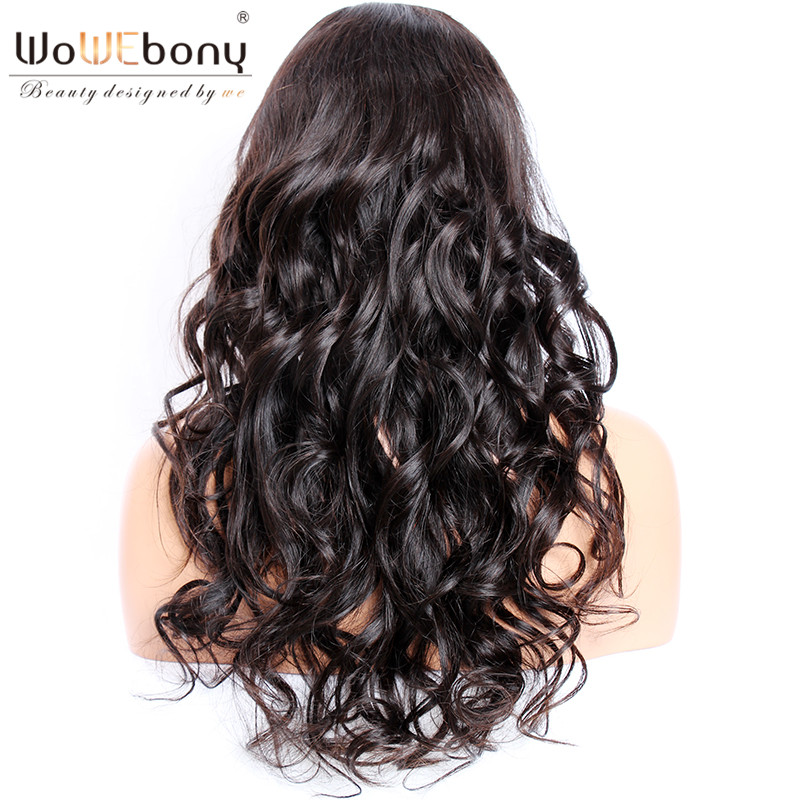 WoWEbony 360 Lace Wigs Indian Remy Hair Loose Wave Human Hair Lace Wigs Pre-plucked Hairline [360LW01]