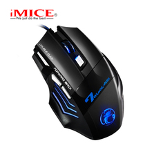 Professional Wired Gaming Mouse 7Button 5500 DPI LED Breathing light Backlight Computer Gamer Mice Game Silent Mause