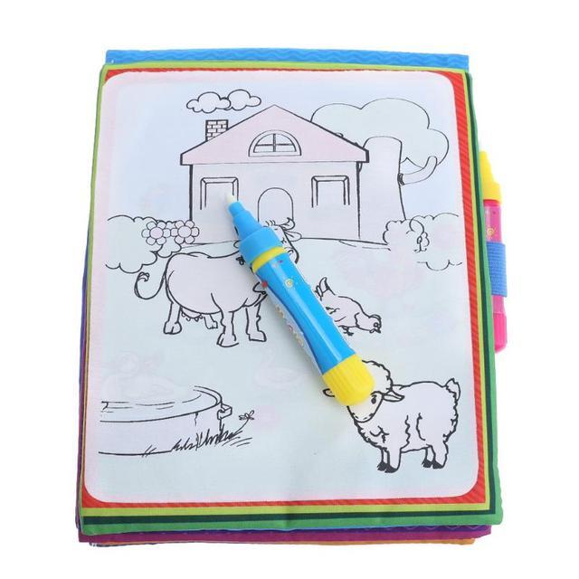 Libro de dibujo de agua mágico para niños, niños, animales, tablero de pintura para colorear, dibujo mágico, libro de juguete para niños, juguete educativo temprano