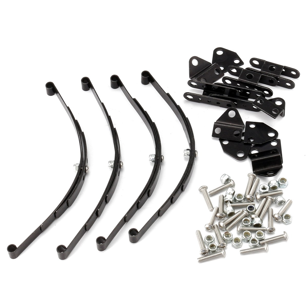 4pcs 1/10 Leaf Springs Set HighLift Chassis For 1/10 D90 RC Crawler Car Parts Black4pcs 1/10 Leaf Springs Set HighLift Chassis For 1/10 D90 RC Crawler Car Parts Black