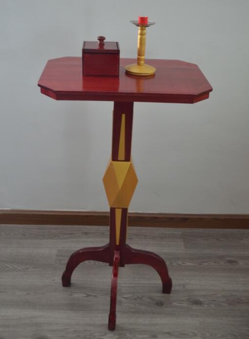 免責による機能フローティングテーブル(抗重力ボックス+金属燭台)マジックのトリック、ステージ、幻想、アクセサリー、メンタリズム、コメディ  グループ上の おもちゃ & ホビー からの 手品 の中 3