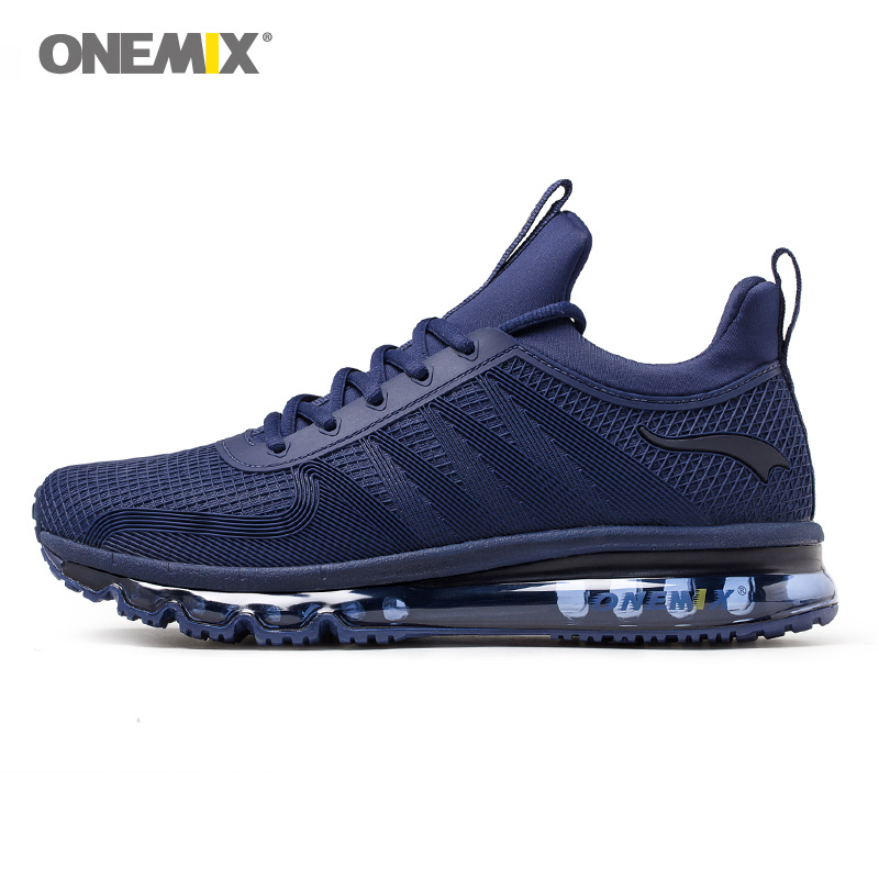 Onemix new air cushion running shoes for men high top shock absorption sports shoes breathable sneaker for outdoor jogging shoes summer breathable air cushion fly line sports women running shoes shock absorption increase tourism shoes spring female sneakers