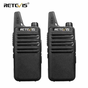 2 piezas profesional Walkie Talkie RETEVIS RT22 UHF VOX de carga USB de dos vías de Radio Comunicador transceptor Woki Toki