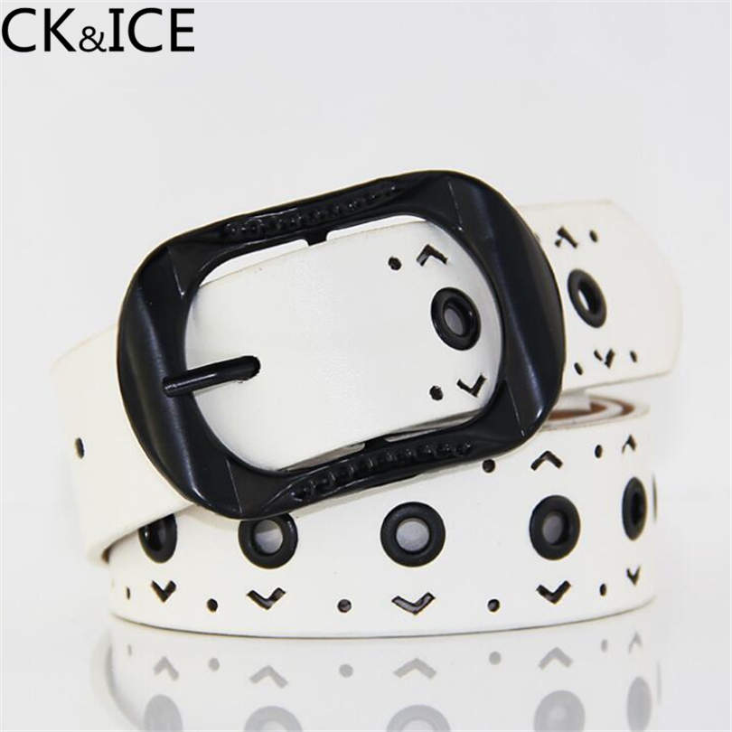 CK&ICE New Arrival Leather Women Belt Fahion Summer Famale Strap Leather Waistband Belts for Women Luxury Lady Cintos Ceinture