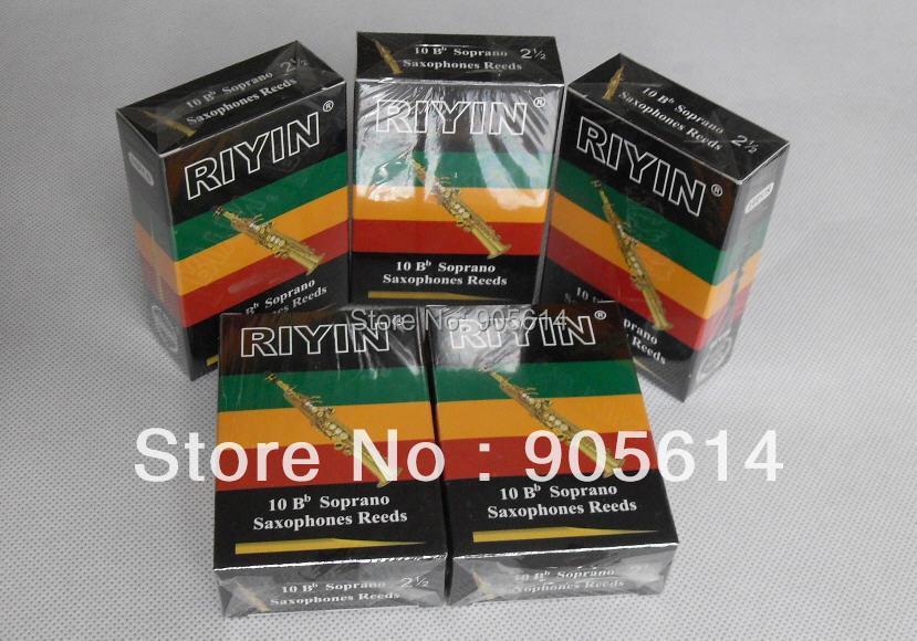 """5 krabic Soprano saxofonové rákosky rákosí Značka """"RIYIN"""" NEW Strenght # 2.5"""