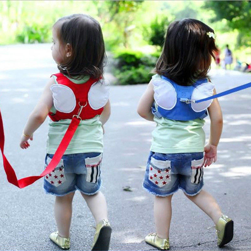 2018 Baby Kids Safety Harness Strap Toddler Walking Anti-Lost Rope Traction Rope Baby Walking Harnesses Leashes Red Blue