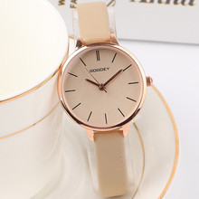 цена Top Brand Simple Stylish Women's Quartz Watch Women Rose Gold Leather Exquisite Mini Fashion Lady Wristwatch Female Gift Clock онлайн в 2017 году