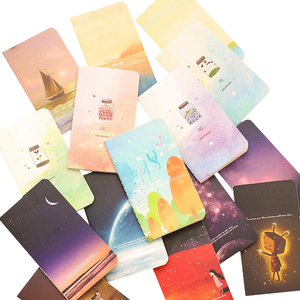 Image 1 - 40pcs/lot  Beautiful Wind 80k Car Line Diary Notebook Students Korean Stationery Notepad Small Notebook Stationery Wholesale