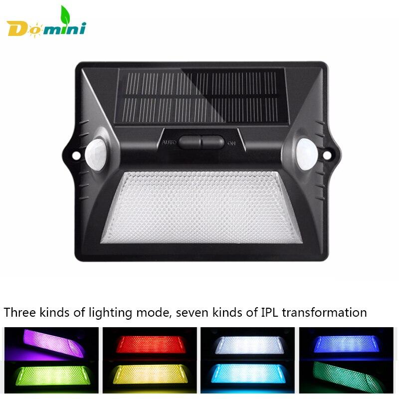 Dual Head Sensor Solar Lights 5050RGB 12LED Solar Lamp Power Outdoor Waterproof Solar Lights for Garden