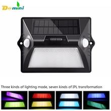 Dual Head Sensor Solar Lights 5050RGB 12LED Solar Lamp  Power Outdoor Waterproof Solar Lights for Garden decoration Wall Lamp