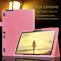 For Lenovo Tab 2 A10-70F/L Tablet Cover 10.1 inch Fashion Stand Flip For Lenovo A10-30 X30F Leather Protective Case + Film + Pen