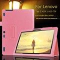 Para lenovo tab 2 a10-70f/l cubierta de la tableta de 10.1 pulgadas soporte de la manera Funda protectora de Cuero del tirón Para Lenovo A10-30 X30F + Film + pluma