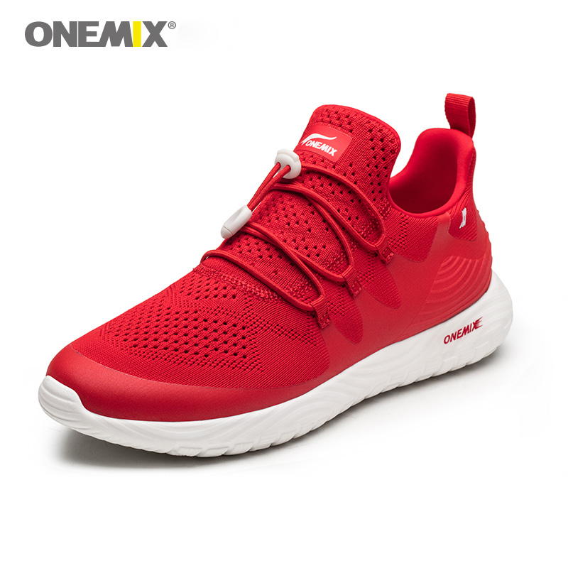 Onemix Ultralight Men Running Shoes Women Breathable Soft Mesh Vamp Sports Jogging Shoes for Outdoor Couple